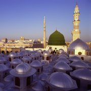 The Green Dome of the Prophets Mosque, Madinah, Saudi Arabia