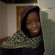 Girl in Green, Diving Mosque, Dakar, Senegal
